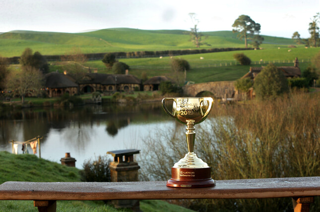 The Lexus Melbourne Cup tour visited the Hobbiton movie set, just outside of Matamata, on Wednesday.  - Trish Dunell